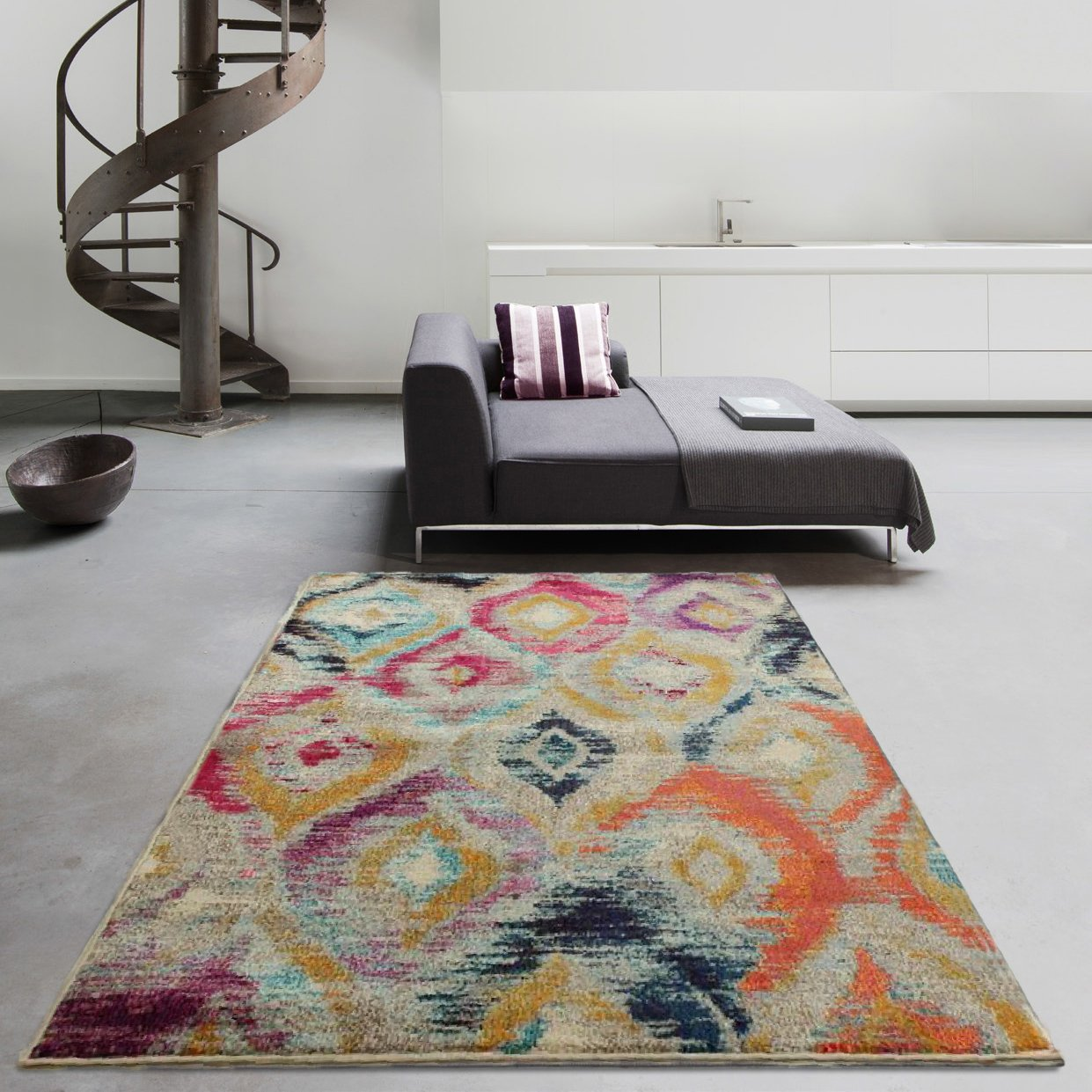 Details About Bright Bold Multi Coloured Moroccan Geometric Rugs Trellis Large Living Room Rug