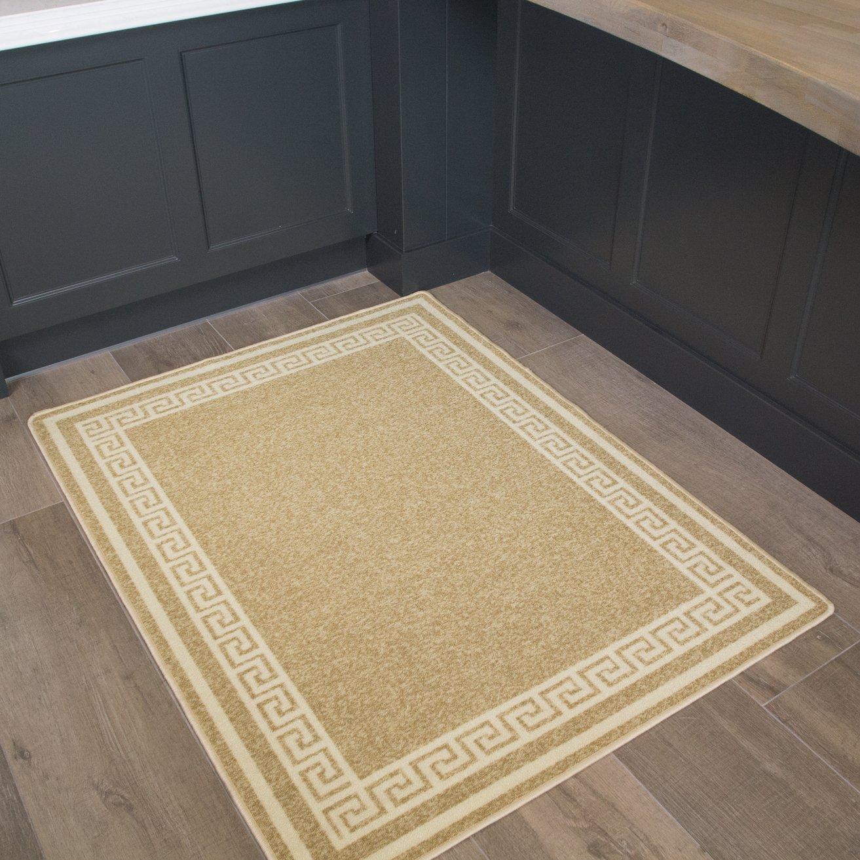 Details About Beige Traditional Non Slip Machine Washable Kitchen Mat Long Hallway Runner Mats