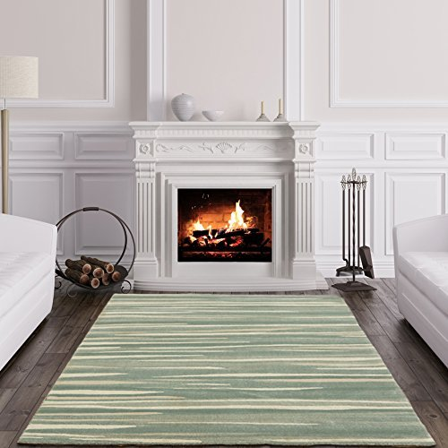 Details about Echo Modern Easy Living Elegant Grey Abstract Stripes Soft  Living Room Rugs