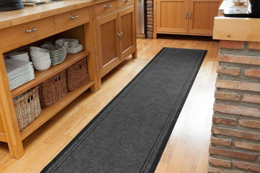 non slip grey dirt catching hall runners entrance kitchen