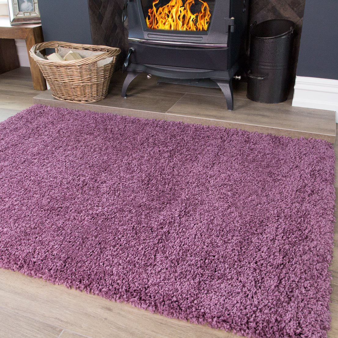 soft touch purple mauve shaggy rugs non shedding living