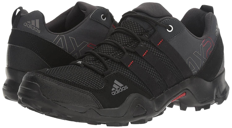 Details about adidas outdoor Men's AX2 Hiking Shoe Dark Shale/Black/Light Scarlet 10.5 M US