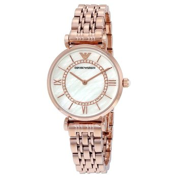 c337d578 Details about Emporio Armani AR1909 Rose Gold Tone Classic Mother of Pearl  Dial Women's Watch