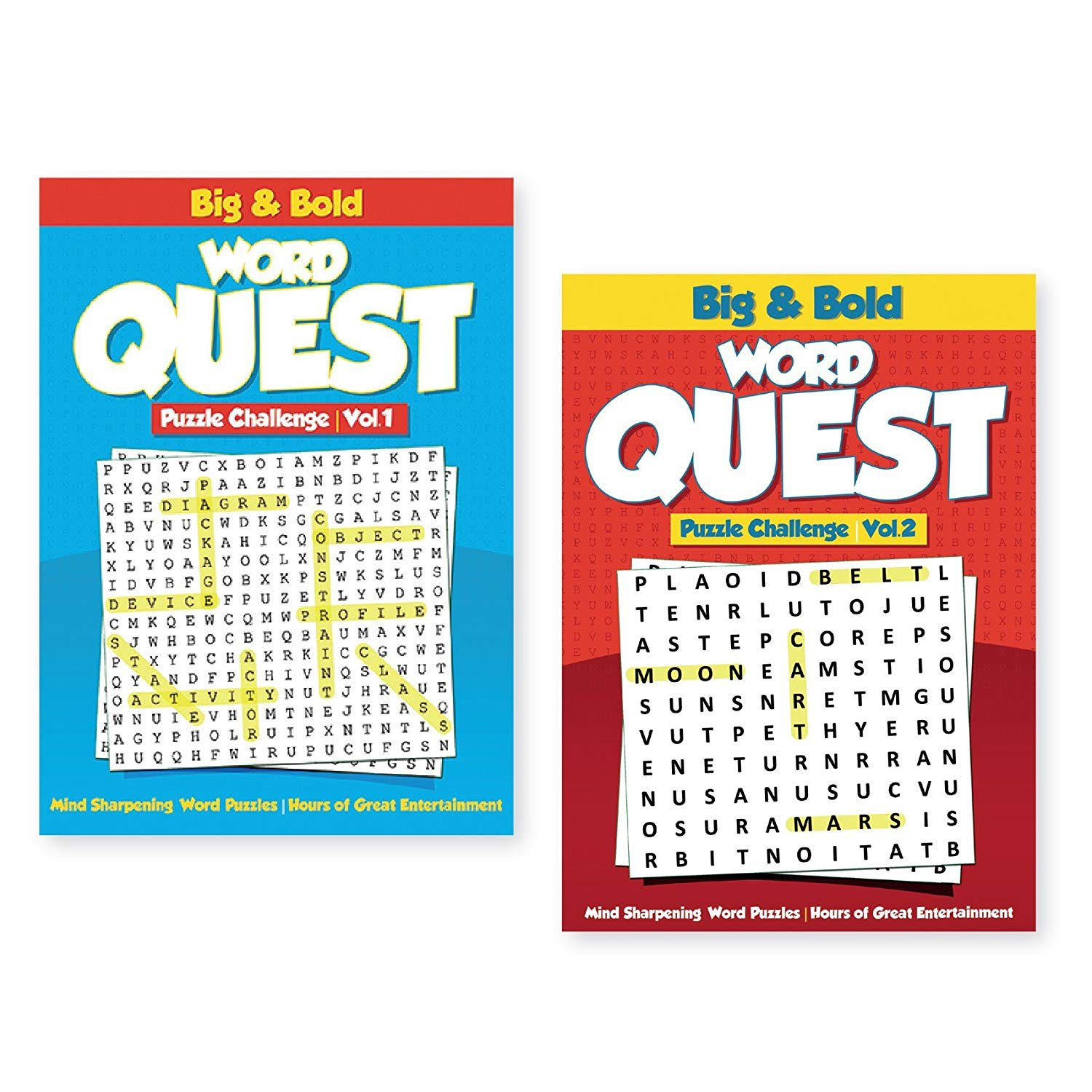 Details about 2 Pack Giant Print Find A Word Puzzle Books