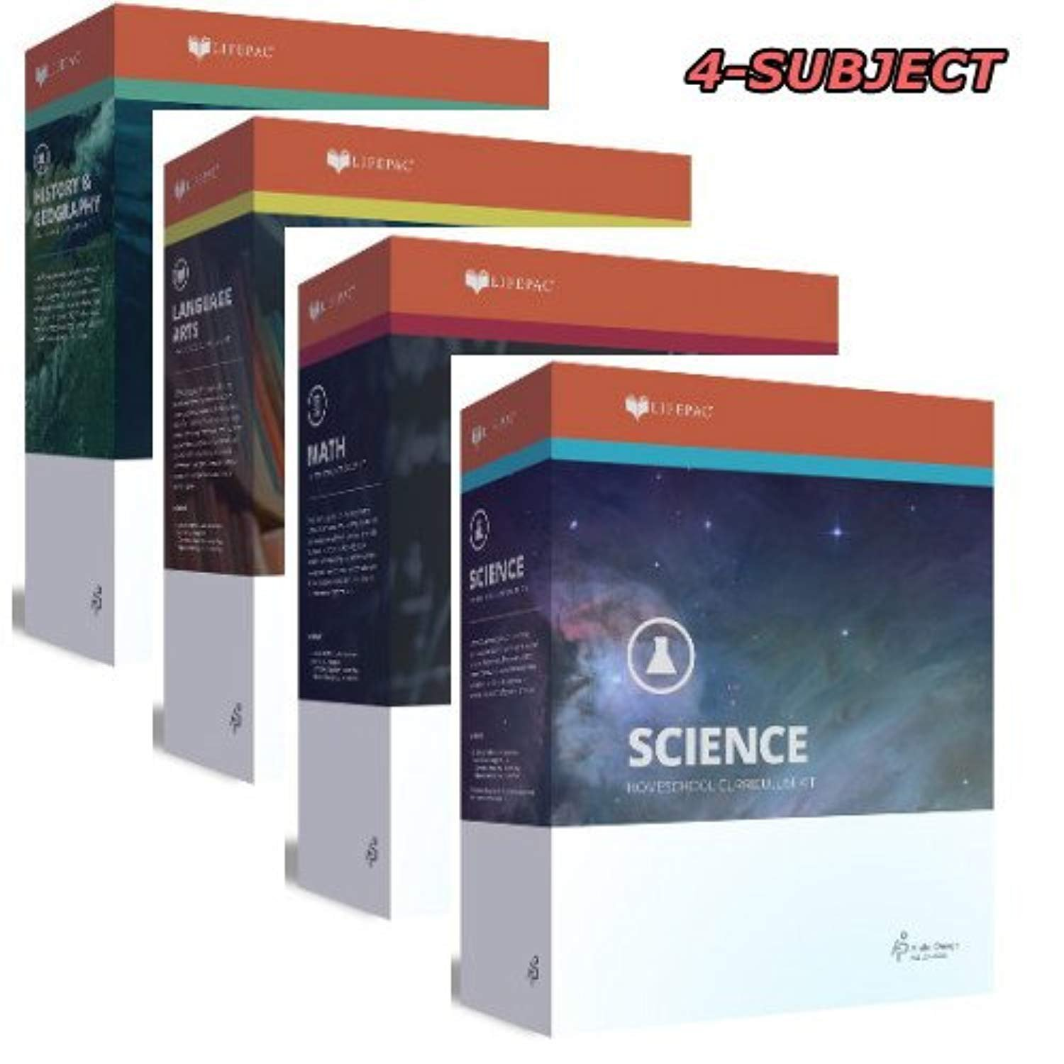 Details about New Lifepac Grade 9 AOP 4-Subject Box Set (Math, Language,  Science & History