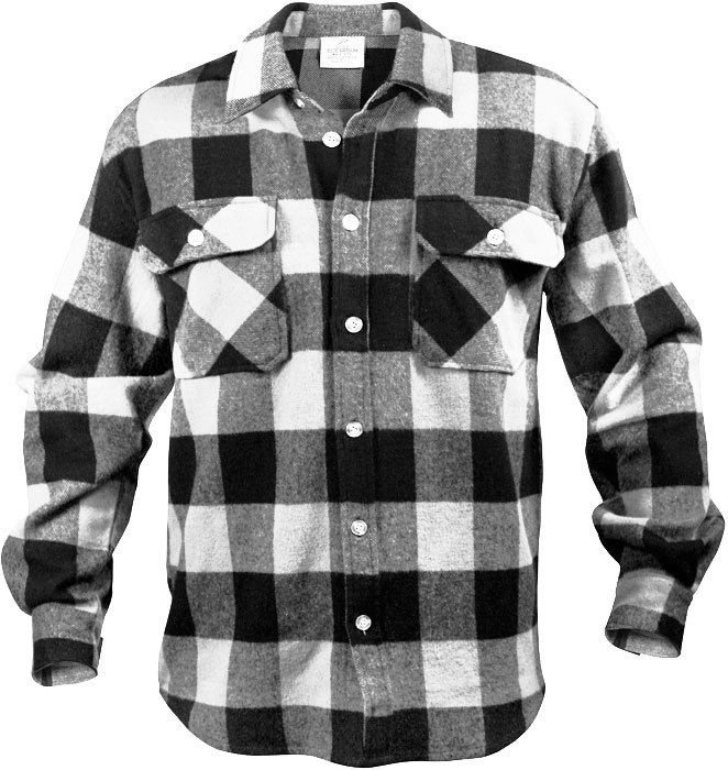 Extra Heavyweight Brawny Buffalo Plaid Flannel Long Sleeve