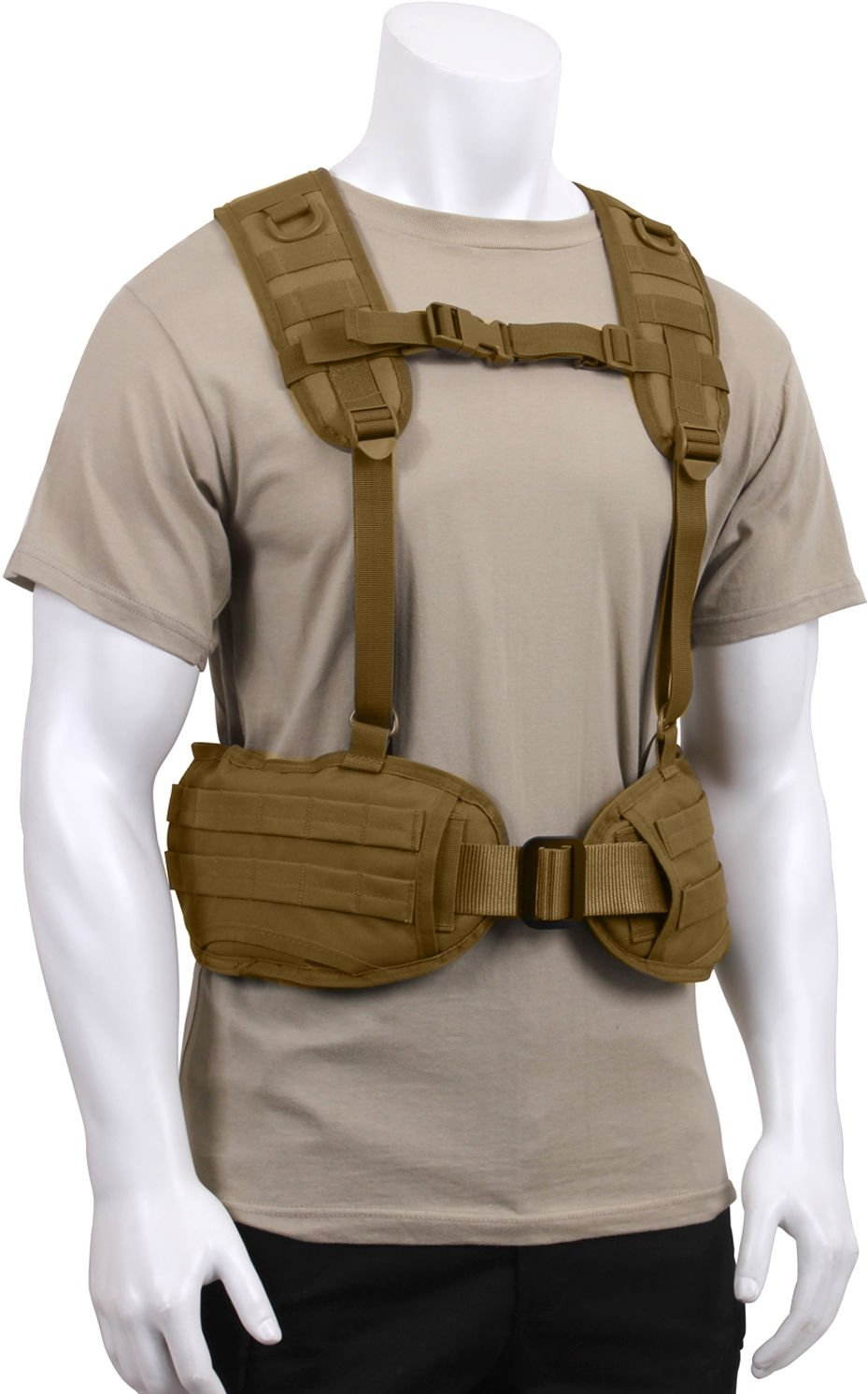 Tactical Load Bearing Military MOLLE Police Battle Belt Harness  50a6a620a74