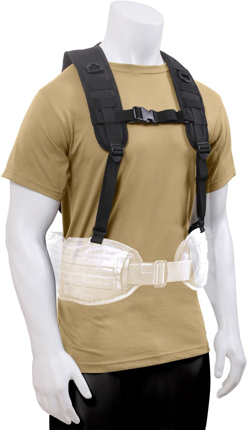 Tactical Load Bearing Military MOLLE Police Battle Belt Harness Vest ... 55b49d768c2