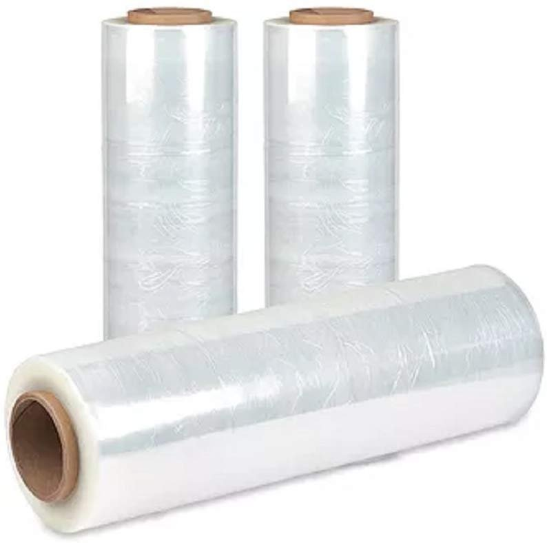 100 Gauge Plastic Packing Wrap 18 Inch x 1000 Feet Blown Stretch Film Rolls 4 Pack Clear
