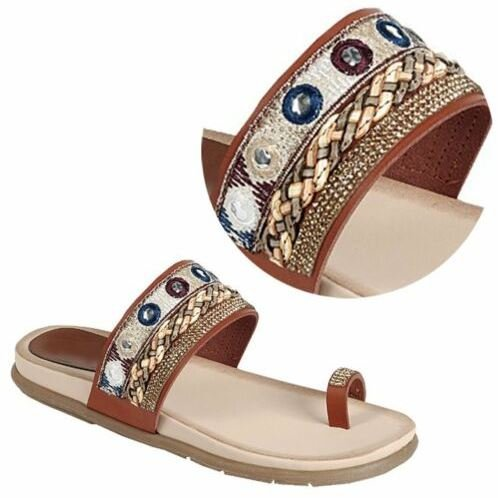 77c7e216b Best Sale Ethnic Roman Toe Ring Flip Flop Wedge Sandal for Women Her ...