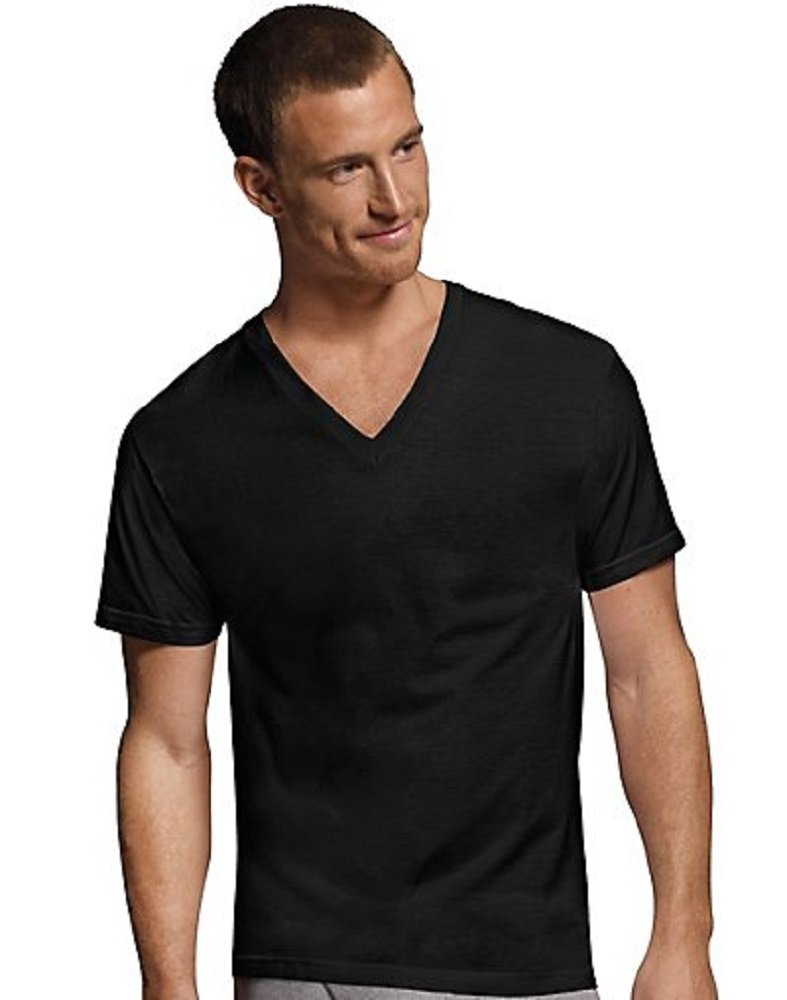 Hanes Men 39 S V Neck T Shirts Comfortsoft 4 Pack S 2x 100
