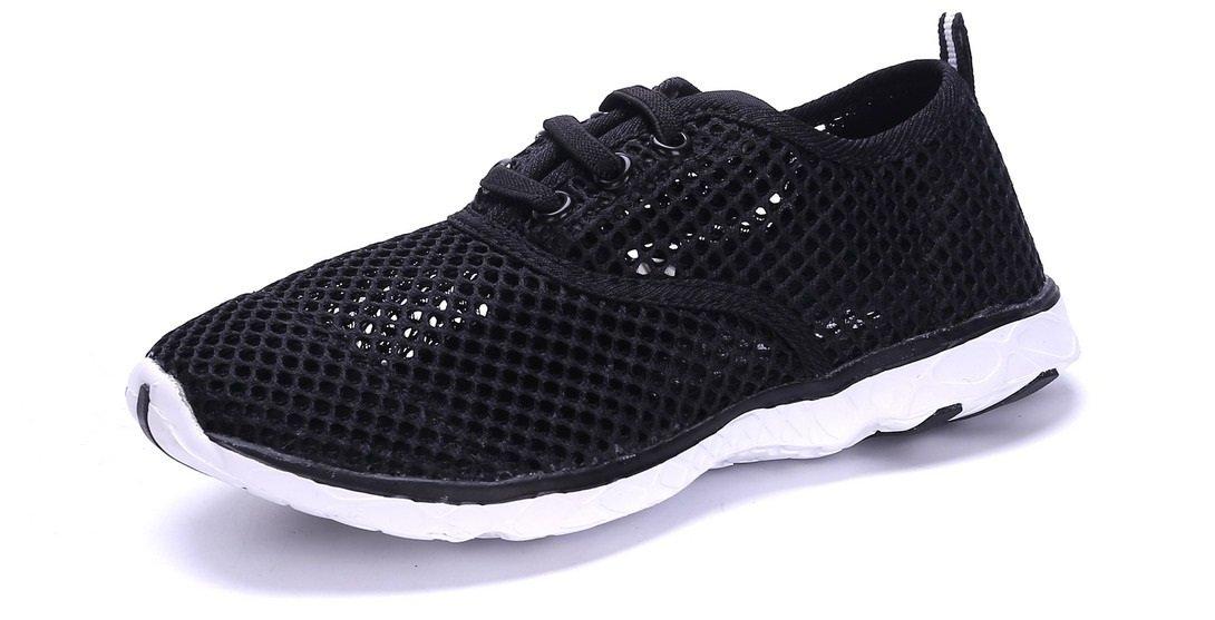 Sea Kidz Kids Water Sneakers Black//Pink//Blue Mesh Water Shoes Toddler9-Big Kid 7