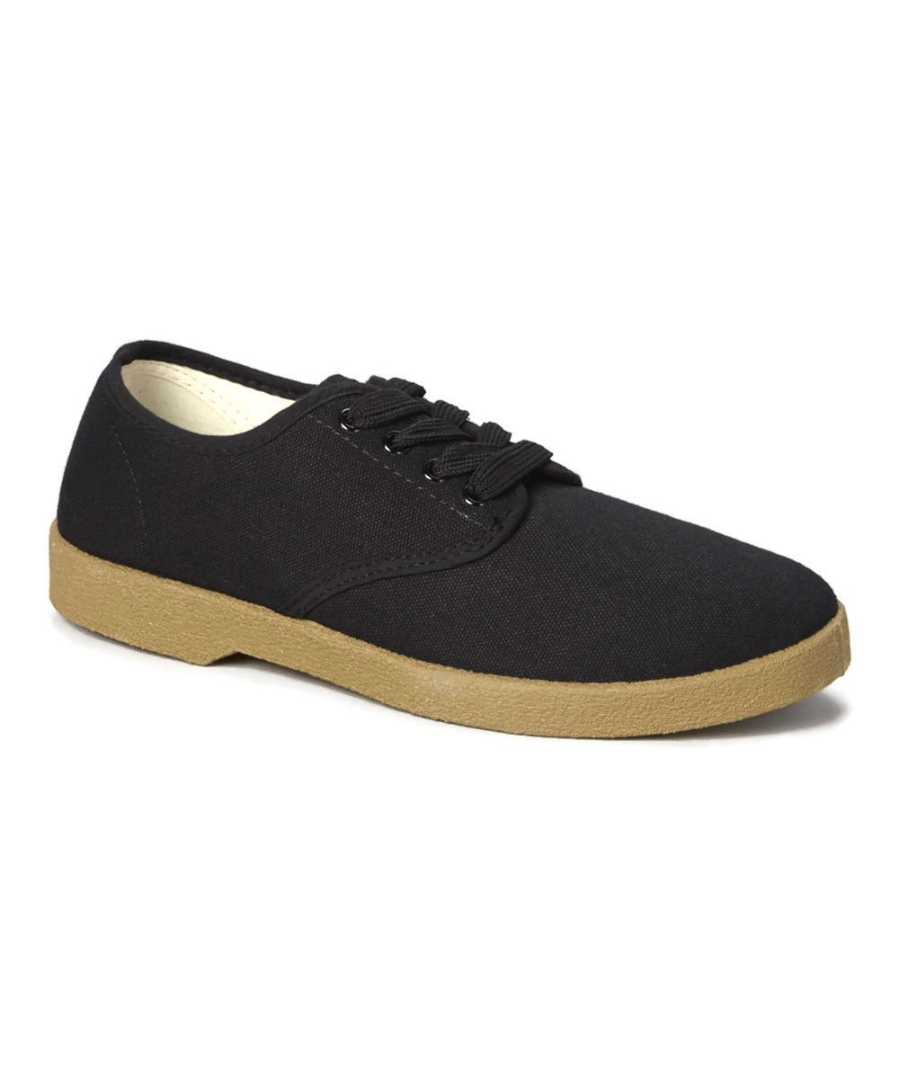 zig zag canvas oxford shoes black winos sizes 6 5 13 new