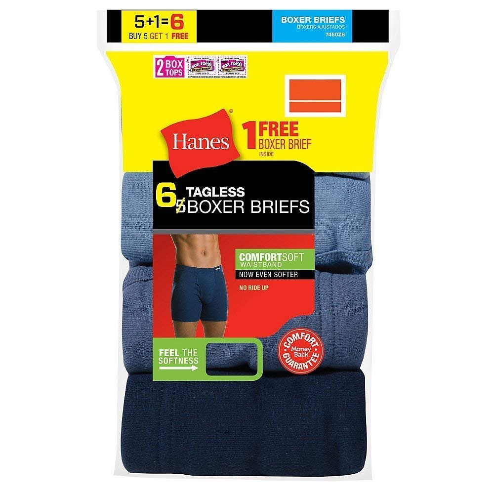 thumbnail 5 - Hanes Men's Boxer Briefs 6-Pack or 12-Pack with Comfort Flex Waistband FreshIQ