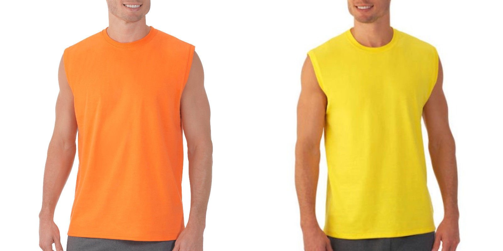 Fruit of the loom men 39 s muscle t shirts 2 pack sizes s 4xl for Mens t shirts 4xl