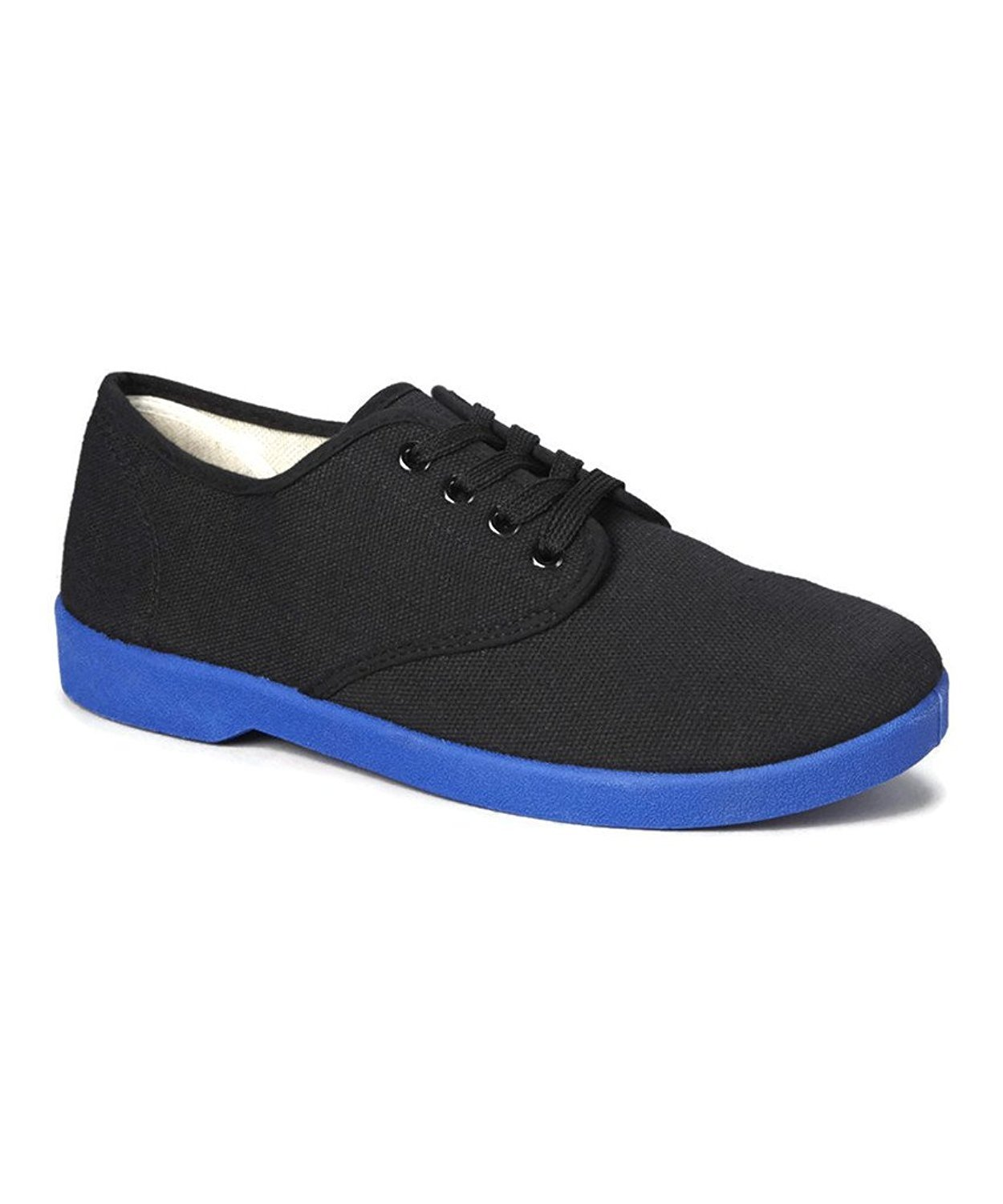 zig zag s canvas oxford shoes blue sole black navy