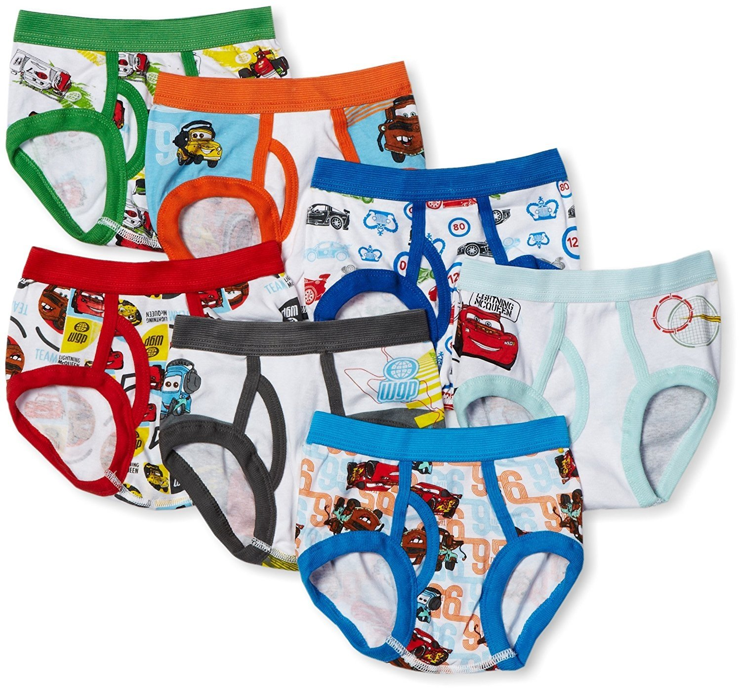 DISNEY CARS 7-pack Toddler Boys Briefs Sizes 2T/3T, 4T NEW ...