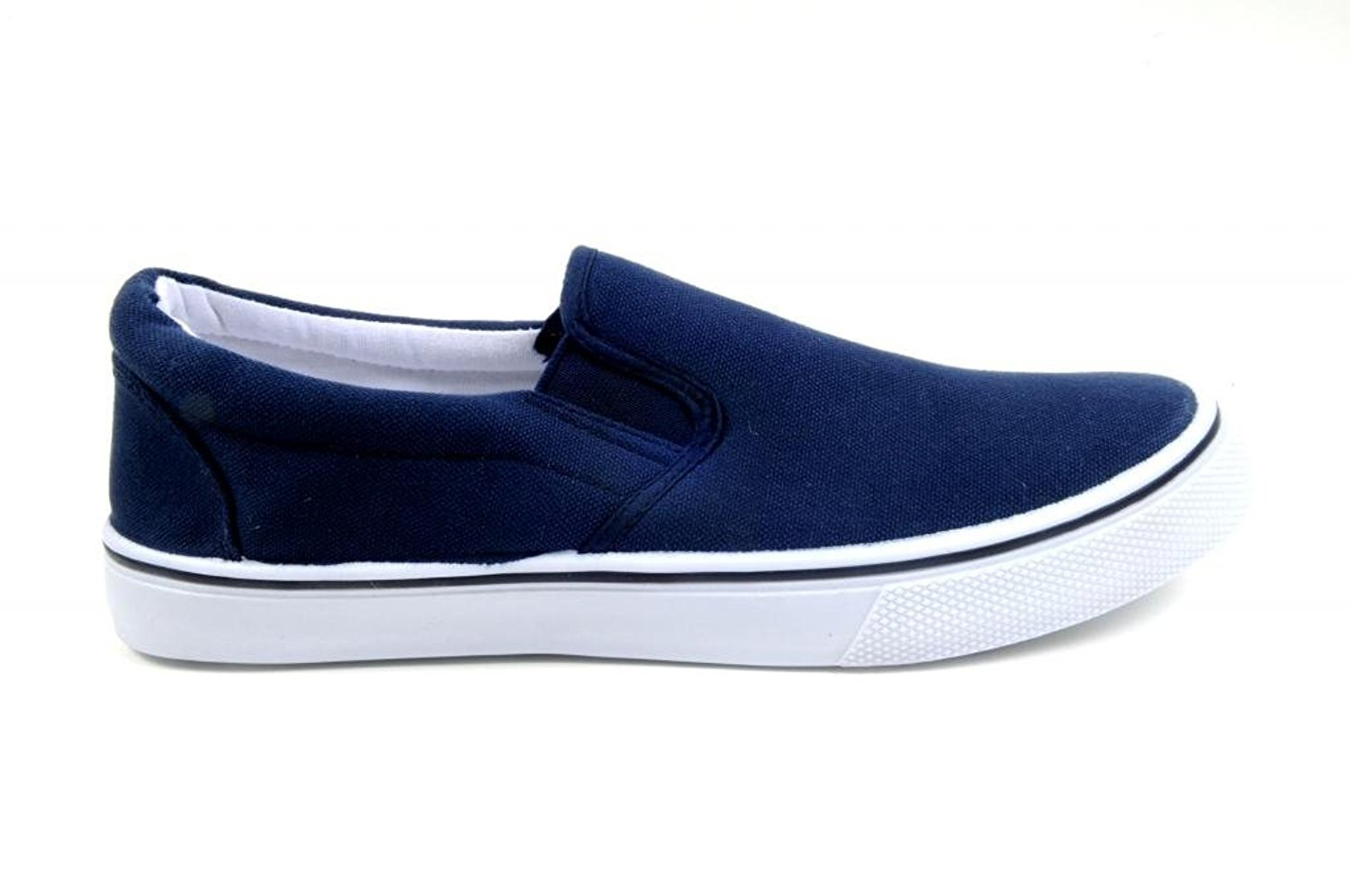 zig zag slip ons casual s shoes canvas black navy or