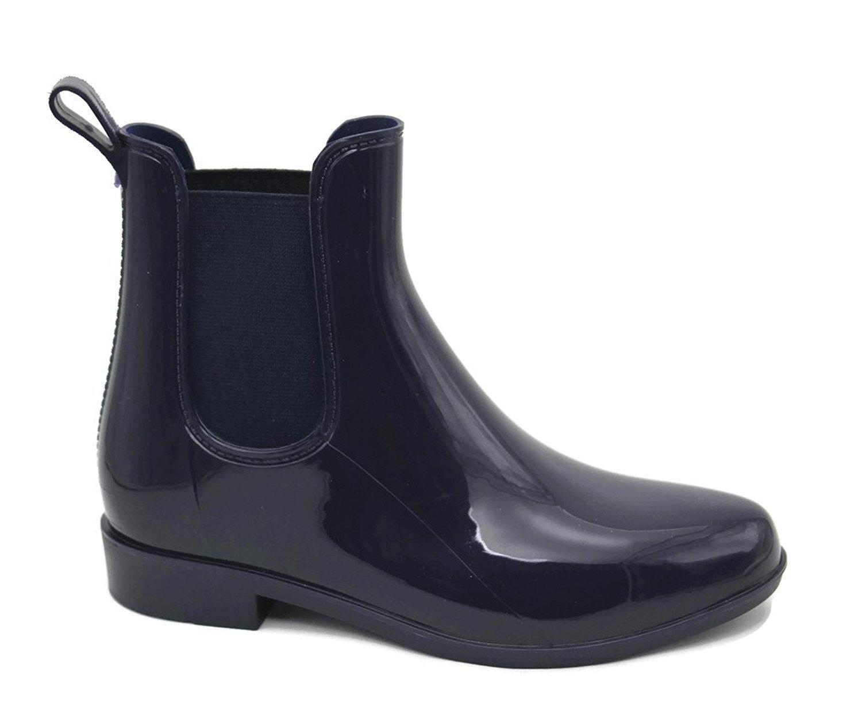 Ladies Booties Shiny Rain Boots Skadoo Size 5 11 Black Or