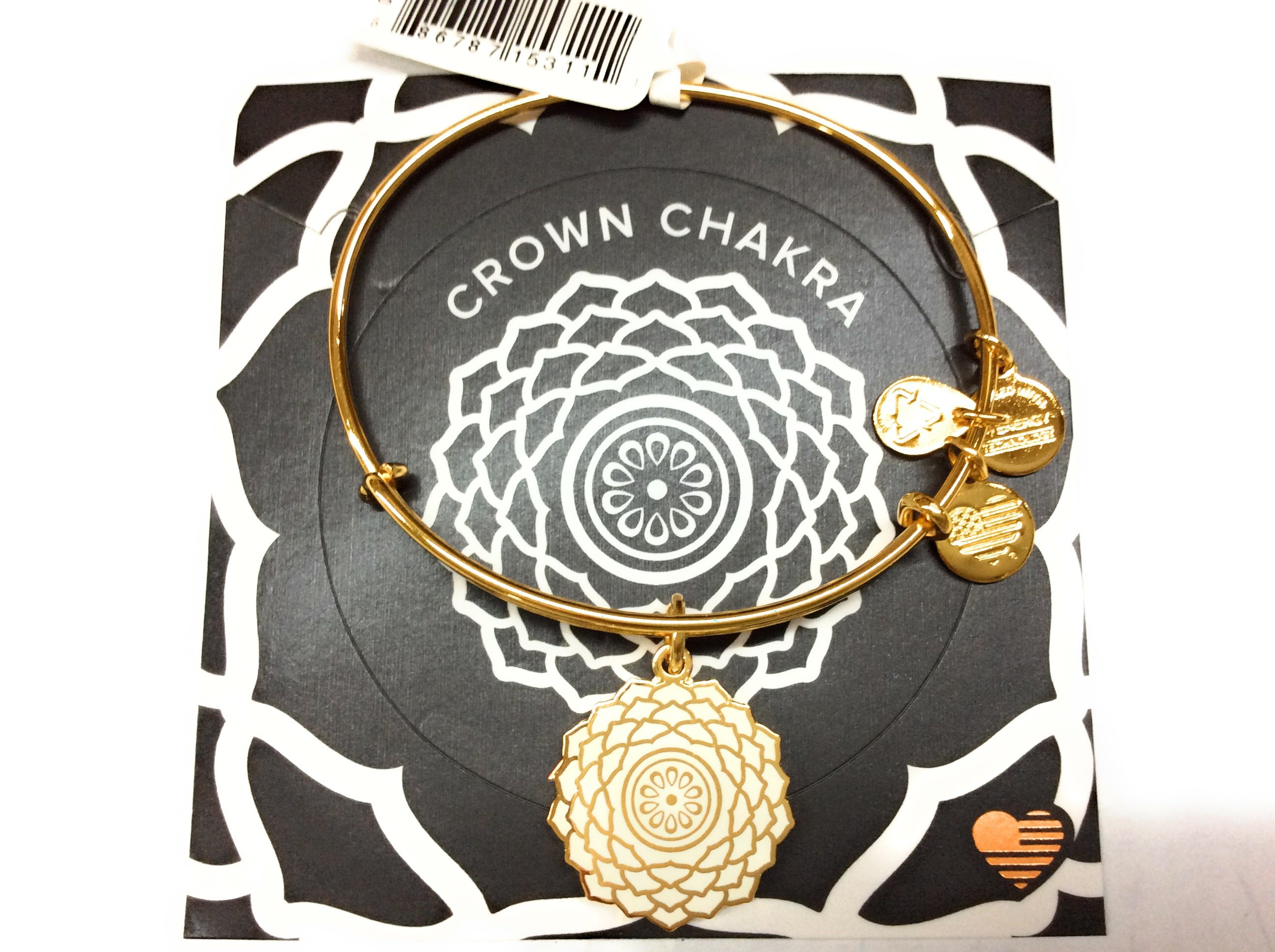 Details About Alex And Ani The Crown Chakra Bangle Bracelet Shiny Gold Nwtbc