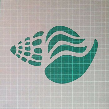 Shell Sea Beach Sand Ocean Mylar Airbrush Painting Wall Art Crafts Stencil 1-XXS