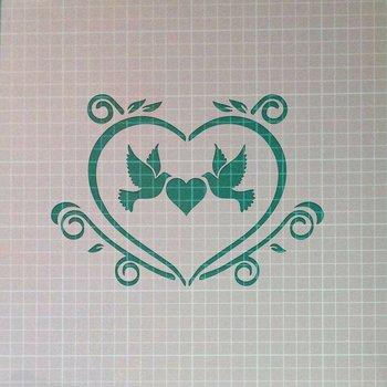 Amor de la vendimia elegante lamentable Mylar Tela pintura del arte de la plantilla A1 Tama/ño de la plantilla - Xlarge