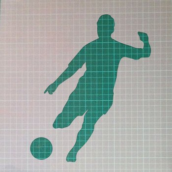 Footballer Football Player Striking Sports Mylar Airbrush Painting Art Stencil