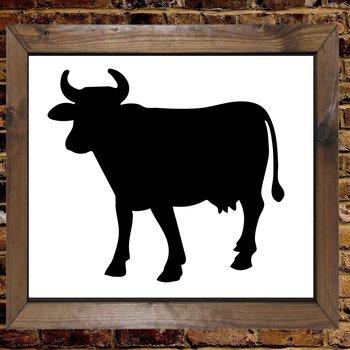 Vache Animal Farm Sky Mylar airrush Painting Wall Art Stencil