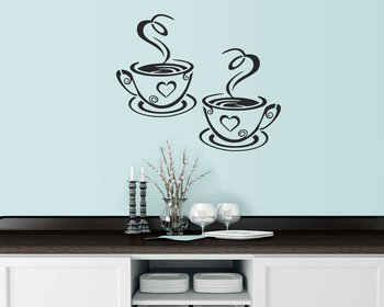 Coffee Tea Cups Home Kitchen Mylar Painting Wall Art Stencil