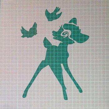 Bambi Mylar Reusable Stencil Airbrush Painting Art Craft DIY Home Decor