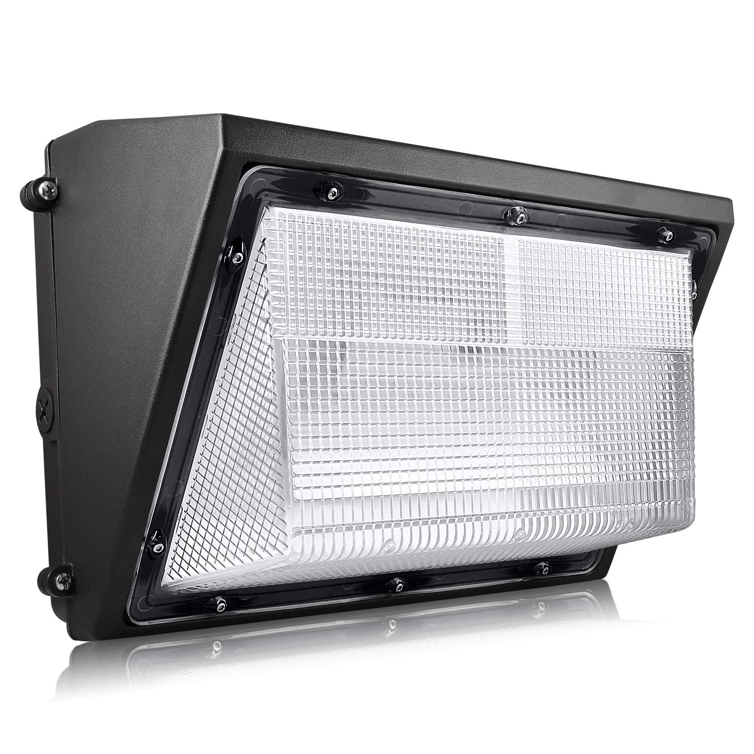 Details about luxrite 80w led wall pack light with dusk to dawn photocell 9450lm 5000k ip65
