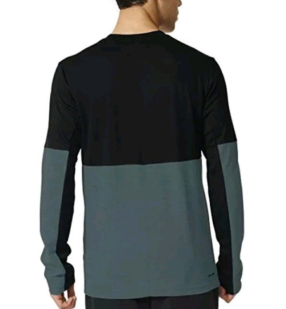 c31d942a9ce61 Adidas Mens Athlete ID Long Sleeve Tee 1114528 BLACK TEAL CHECK FOR ...
