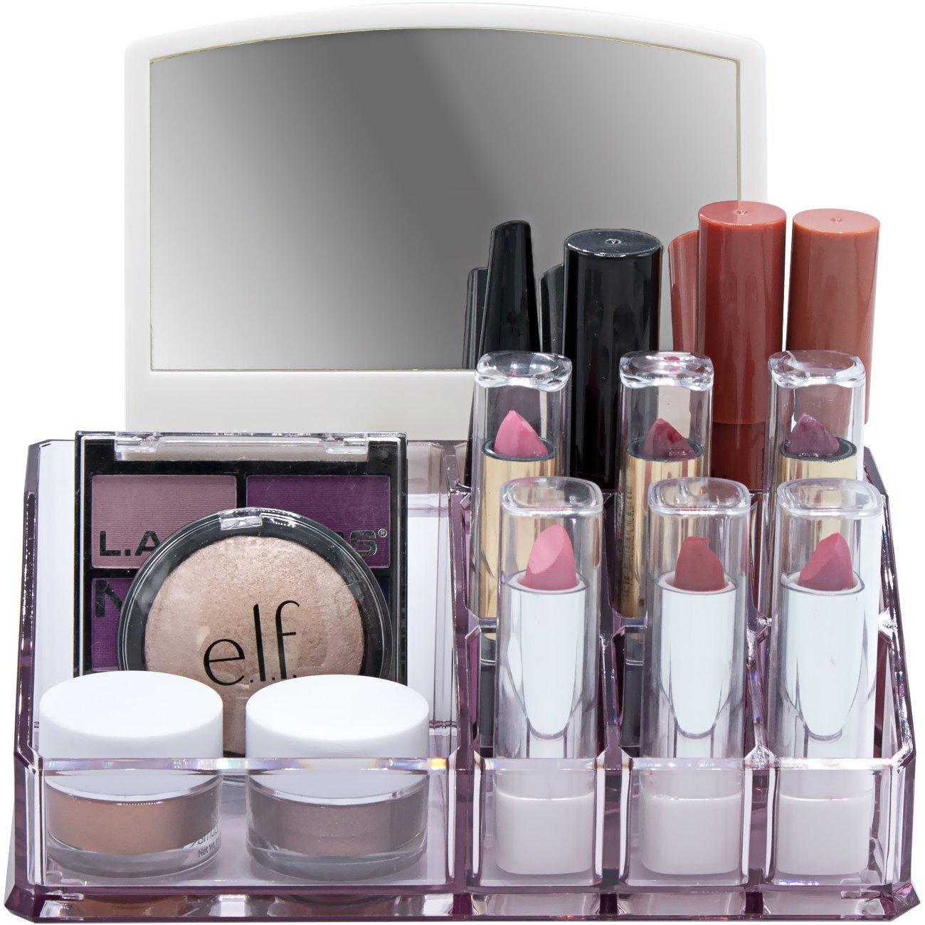 Sorbus Acrylic Cosmetic Makeup Organizer with Mirror ...