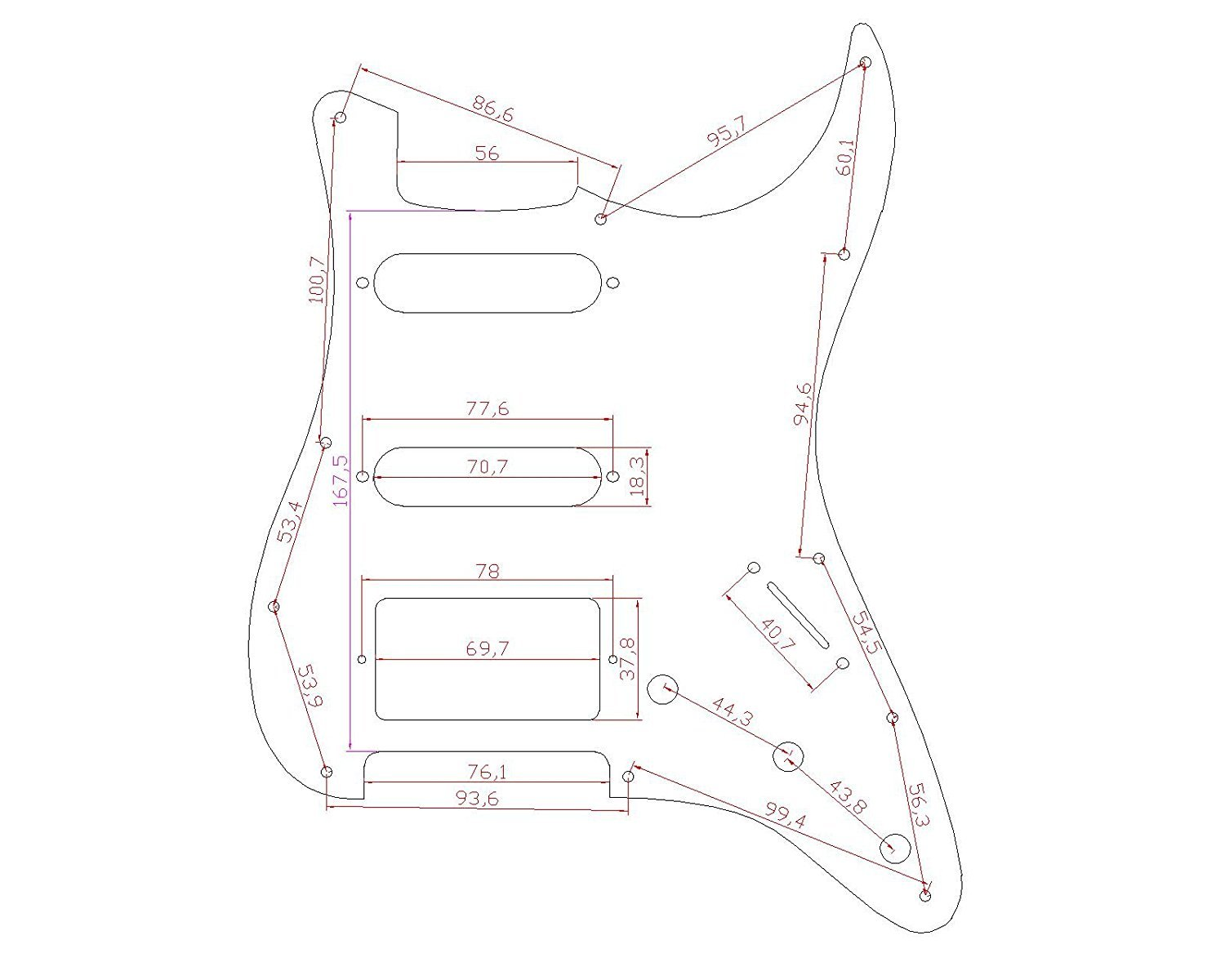 Stratocaster-Pickguard-For-Fender-US-Mexico-Strat-Electric-Guitar thumbnail 16