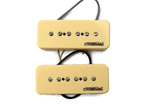 Wilkinson-Bridge-and-Neck-P90-Soapbar-Pickup-SET-Soap-Bar-Cream-or-Black-Screws thumbnail 13