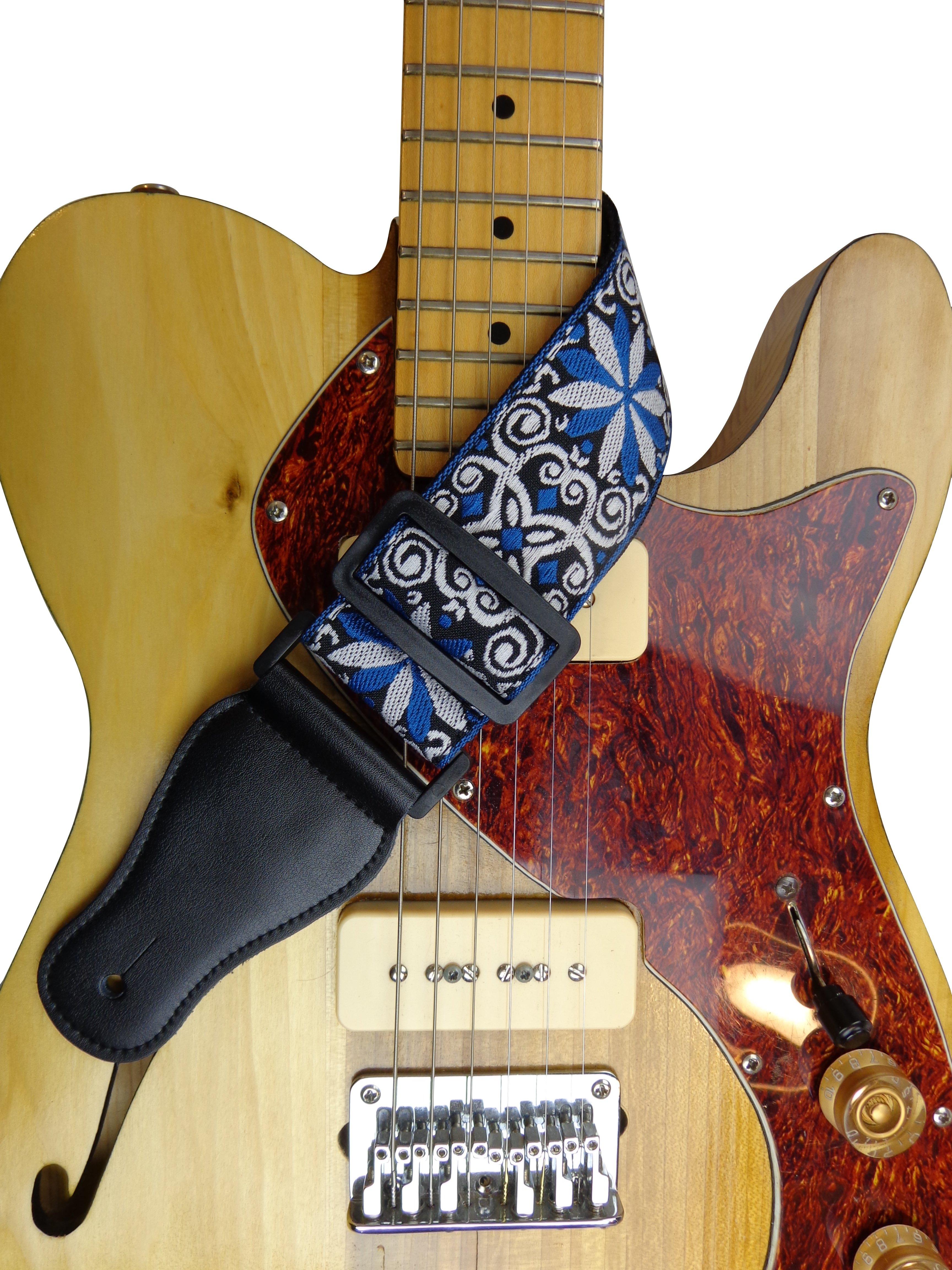New-Retro-Vintage-Jacquard-Woven-Acoustic-Electric-Guitar-Strap thumbnail 3
