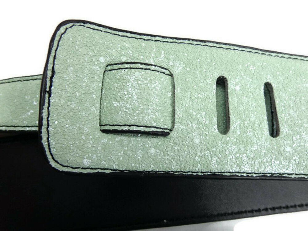 Guitar-Strap-Leather-PU-Plastic-Adjustable-Acoustic-Electric-Bass-Skin-Sparkle thumbnail 46