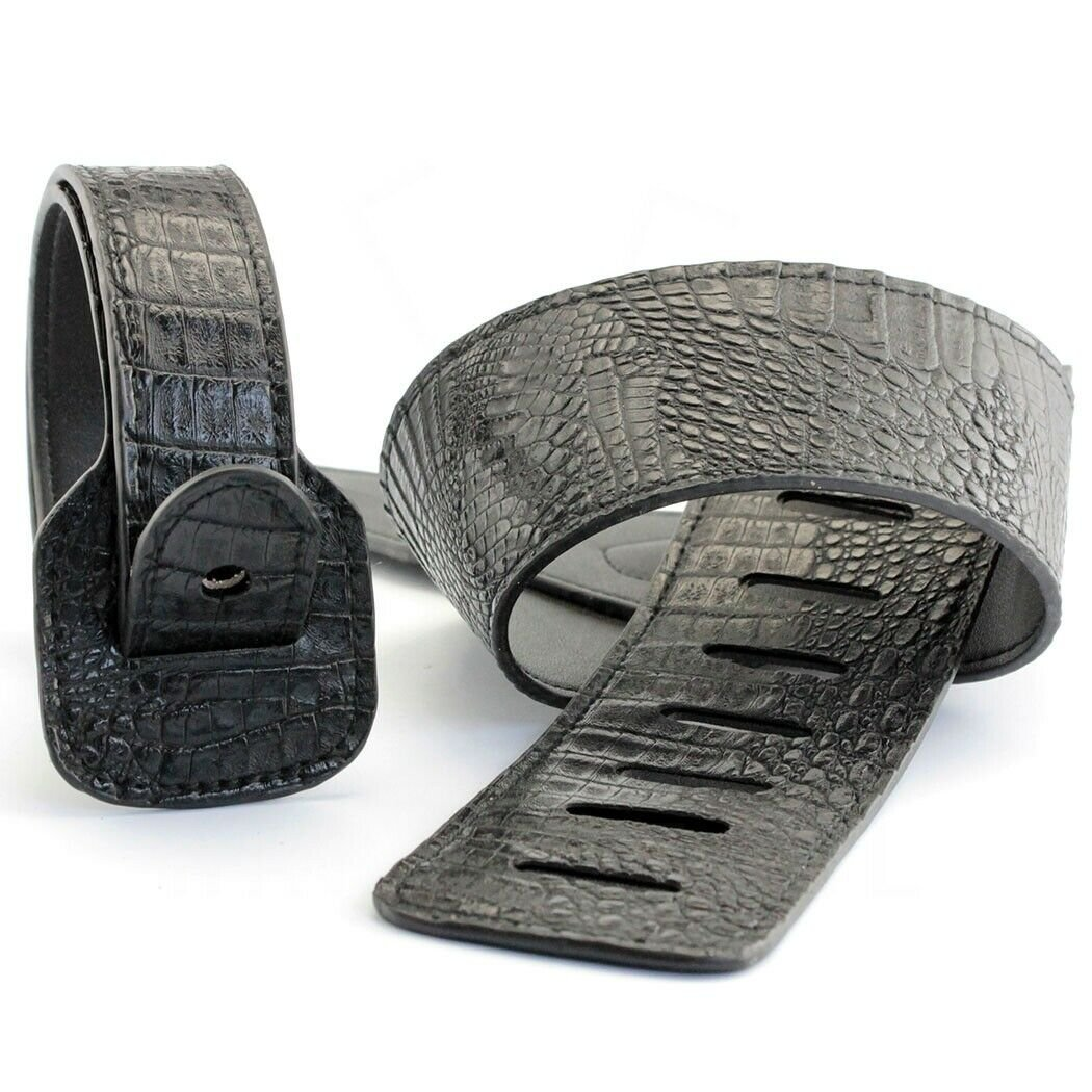Guitar-Strap-Leather-PU-Plastic-Adjustable-Acoustic-Electric-Bass-Skin-Sparkle thumbnail 4
