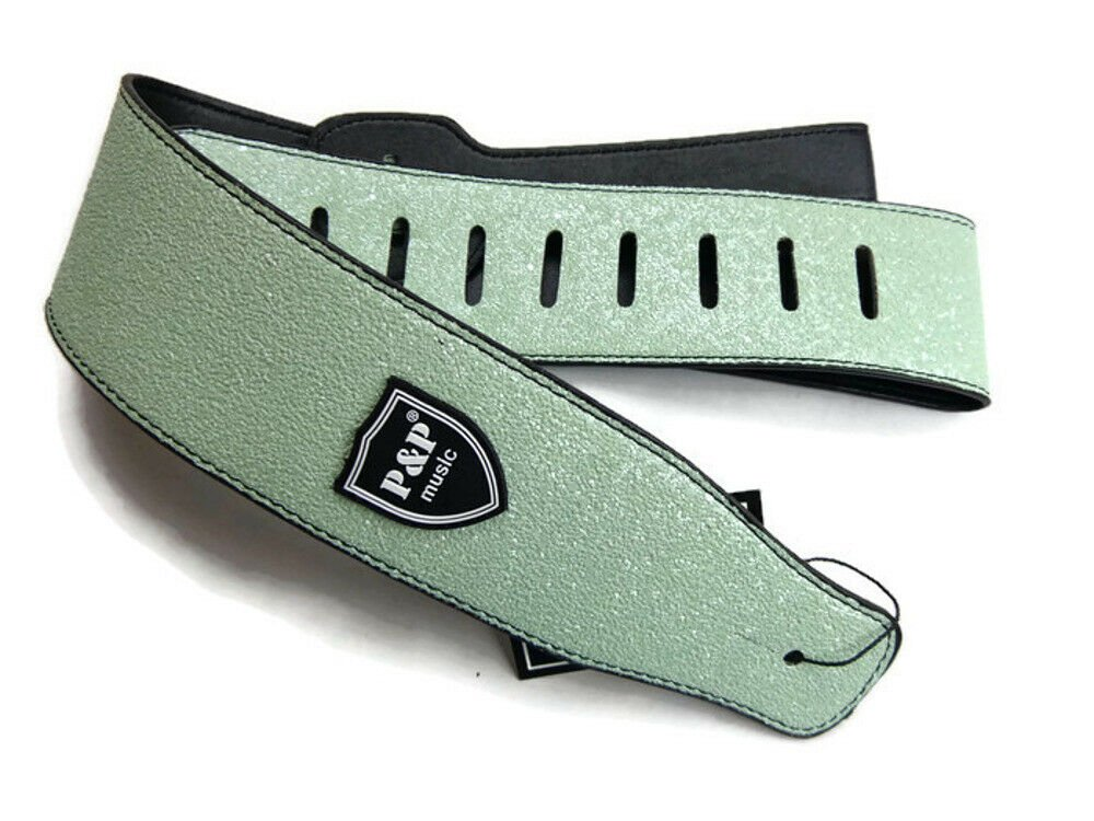 Guitar-Strap-Leather-PU-Plastic-Adjustable-Acoustic-Electric-Bass-Skin-Sparkle thumbnail 43