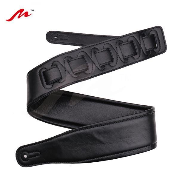 Quality-Leather-2-5-and-3-034-Wide-Acoustic-Electric-Guitar-Bass-Strap-Thick-Padded miniature 11