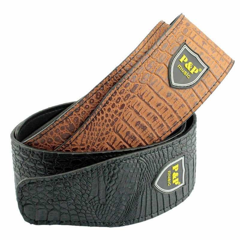 Guitar-Strap-Leather-PU-Plastic-Adjustable-Acoustic-Electric-Bass-Skin-Sparkle thumbnail 27