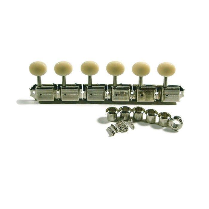 Nickel Wilkinson Vintage Style 3+3 Plate Tuning Peg Tuner Guitar Cream