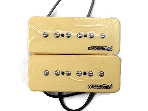 Wilkinson-Bridge-and-Neck-P90-Soapbar-Pickup-SET-Soap-Bar-Cream-or-Black-Screws thumbnail 14