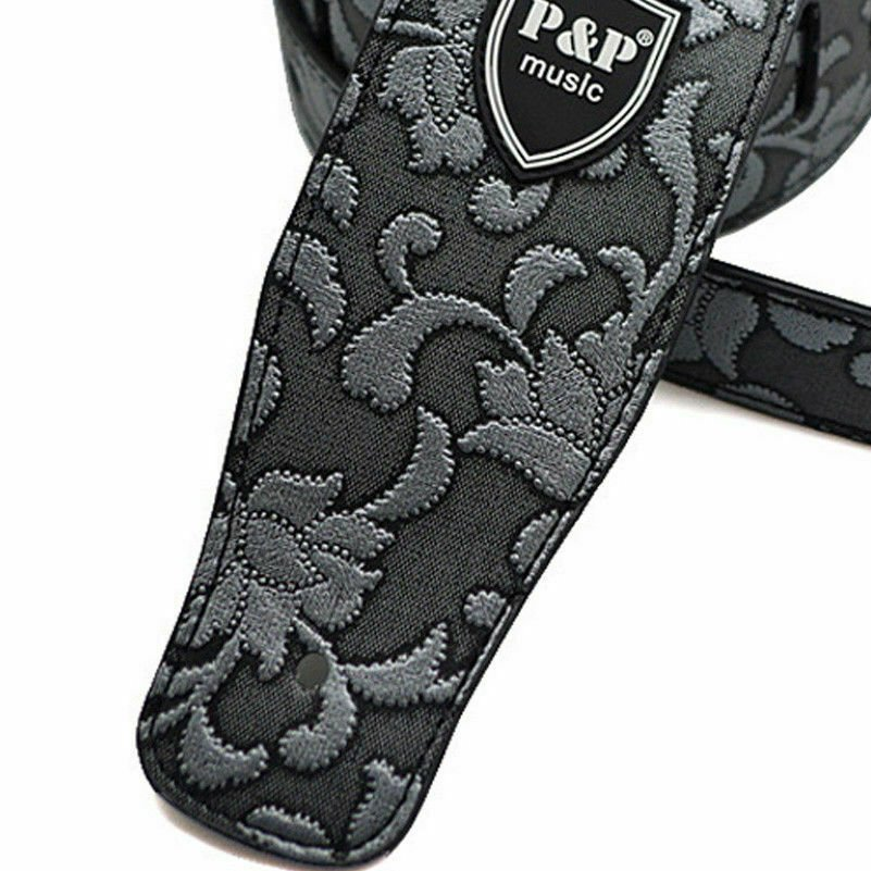 Guitar-Strap-Leather-PU-Plastic-Adjustable-Acoustic-Electric-Bass-Skin-Sparkle thumbnail 52