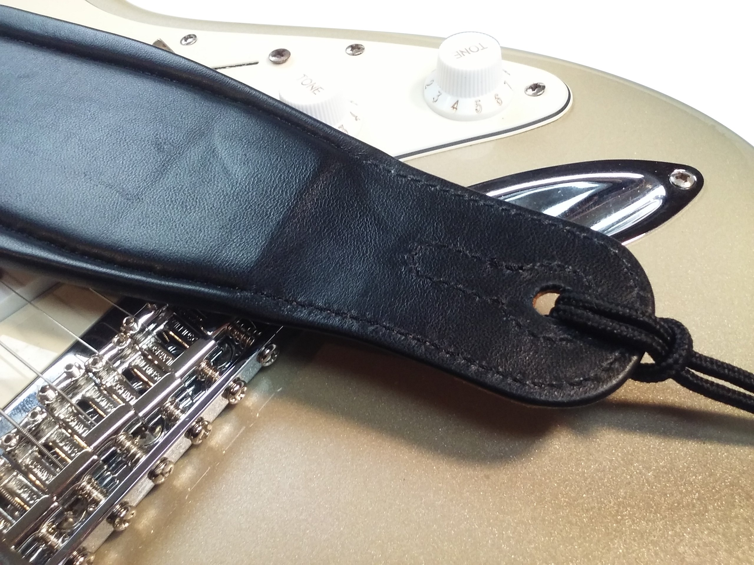 Quality-Leather-2-5-and-3-034-Wide-Acoustic-Electric-Guitar-Bass-Strap-Thick-Padded miniature 13