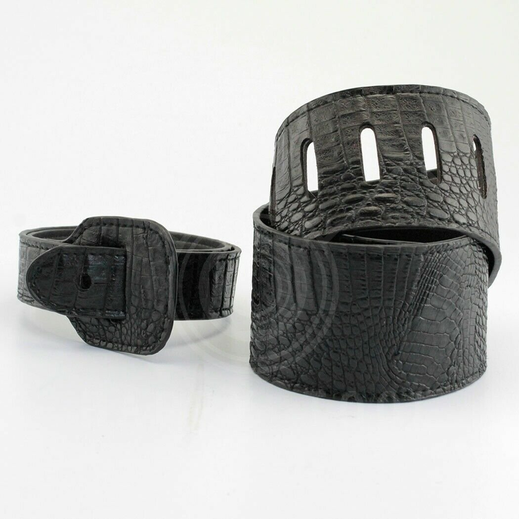 Guitar-Strap-Leather-PU-Plastic-Adjustable-Acoustic-Electric-Bass-Skin-Sparkle thumbnail 3