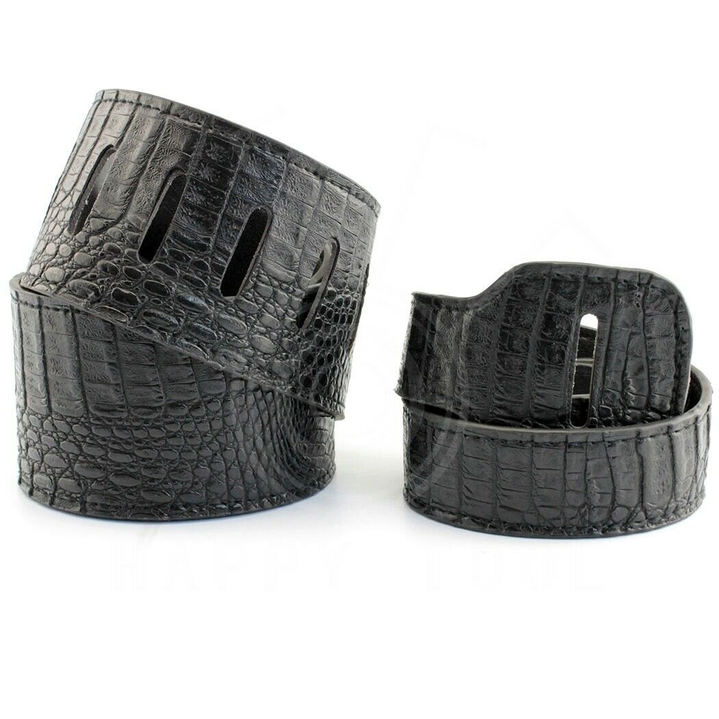 Guitar-Strap-Leather-PU-Plastic-Adjustable-Acoustic-Electric-Bass-Skin-Sparkle thumbnail 5