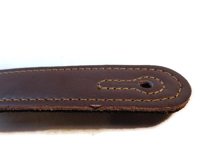 Quality-Leather-2-5-and-3-034-Wide-Acoustic-Electric-Guitar-Bass-Strap-Thick-Padded miniature 35