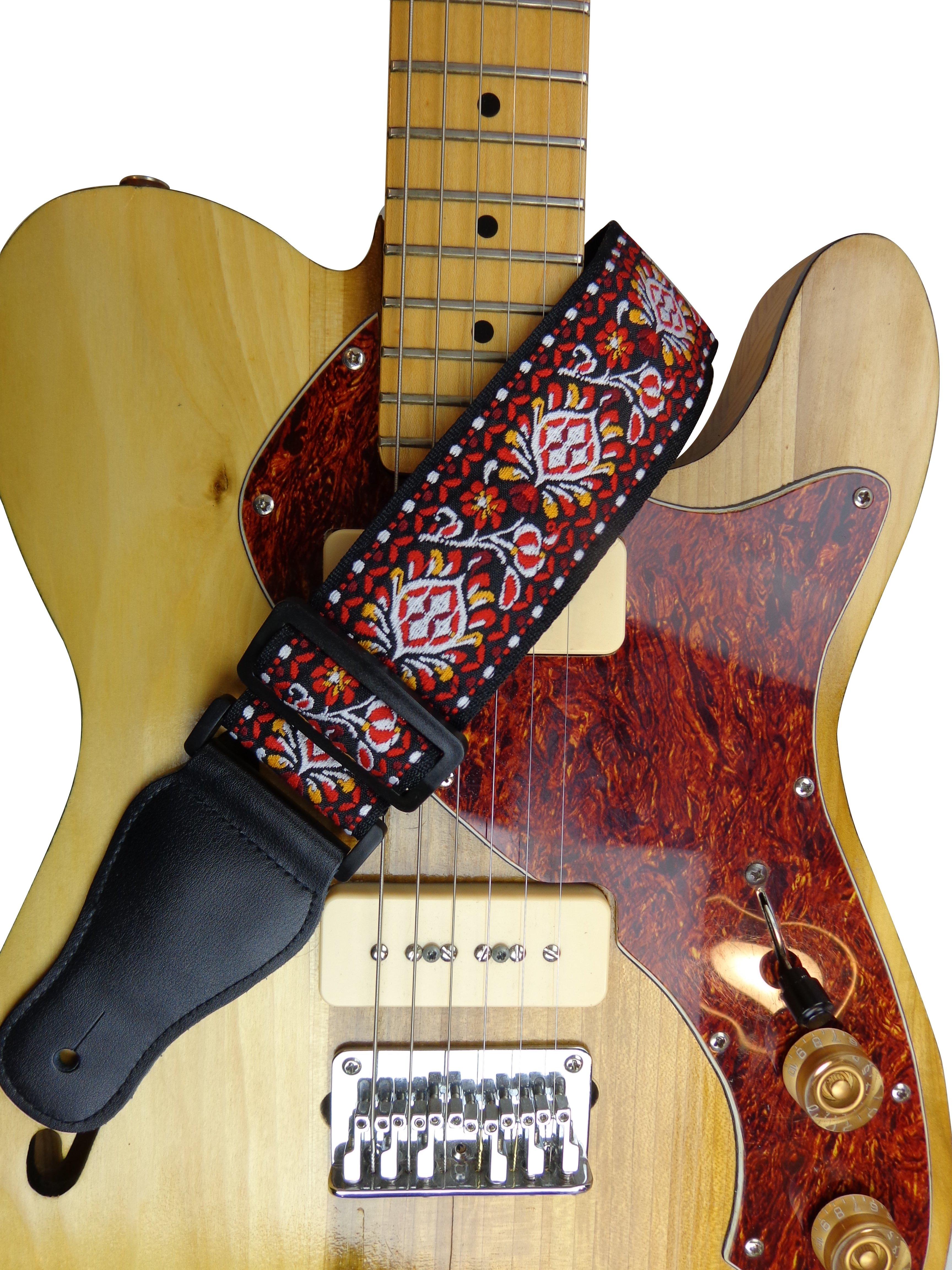 New-Retro-Vintage-Jacquard-Woven-Acoustic-Electric-Guitar-Strap thumbnail 54