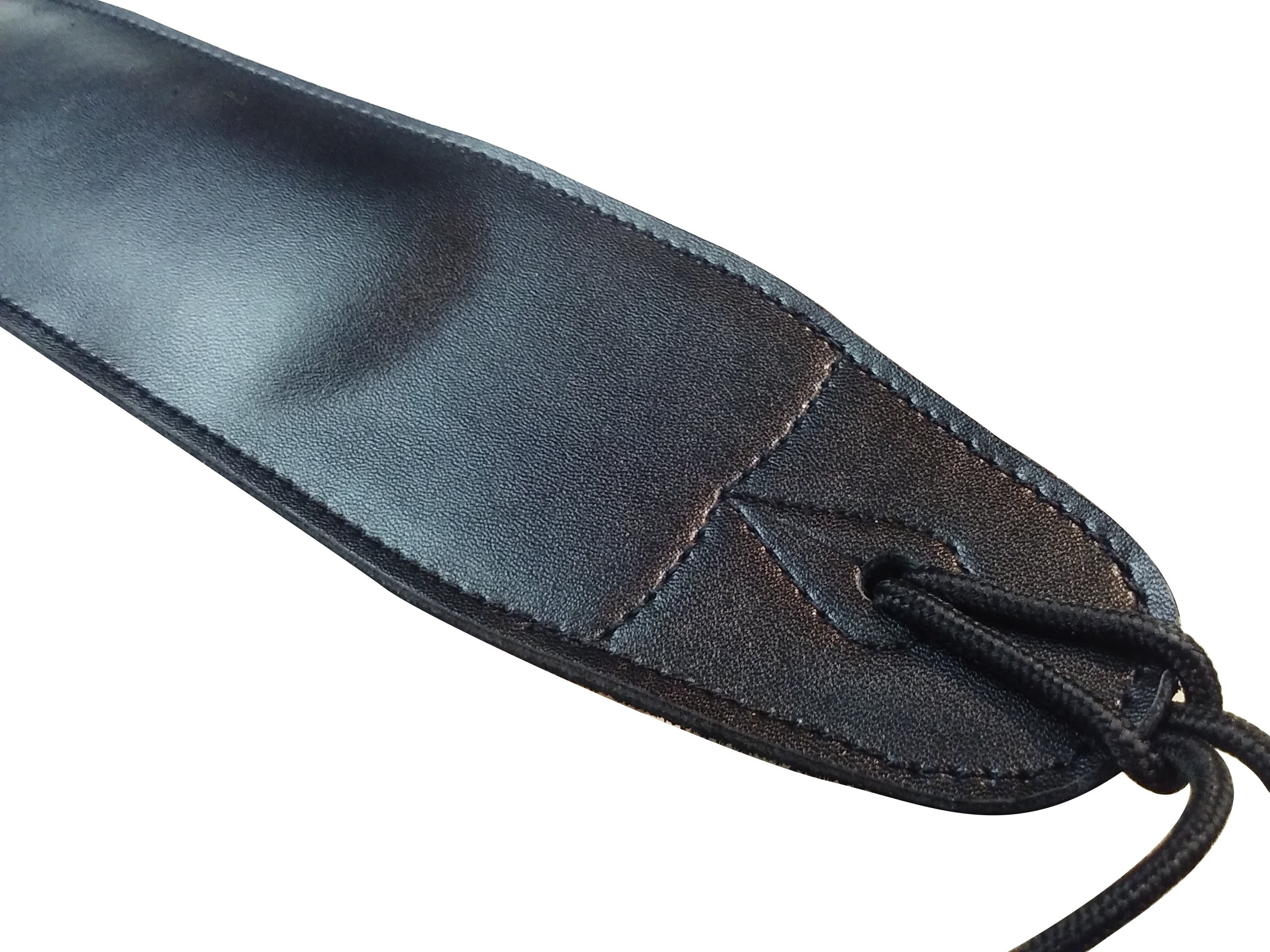 Quality-Leather-2-5-and-3-034-Wide-Acoustic-Electric-Guitar-Bass-Strap-Thick-Padded miniature 6